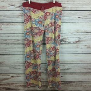 Lucky Brand Large Asian Floral Lounge Sweatpants